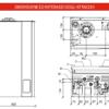 Caldaia a condensazione Fondital FORMENTERA KC 24 kw DIMENSIONI