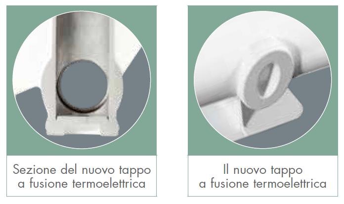 EXCLUSIVO B3 - Radiatori in alluminio pressofuso Fondital - nuovo tappo a fusione termoelettrica