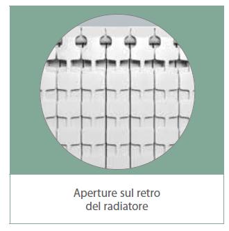 EXCLUSIVO B3 - Radiatori in alluminio pressofuso Fondital - retro aperture