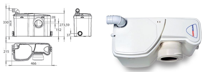 Trituratore Watermatic W12 P schema tecnico