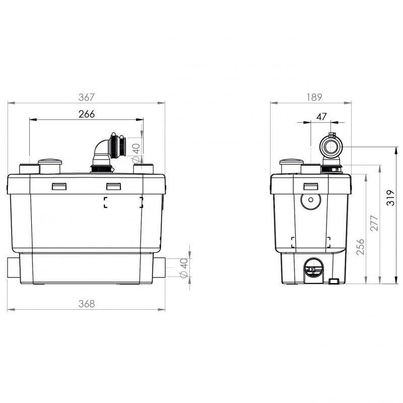 trituratore lavello cucina sanitrit sanivite plus a roma scheda tecnica